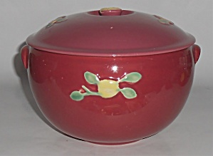 Coors Pottery Rosebud Red Triple Service Casserole Robe