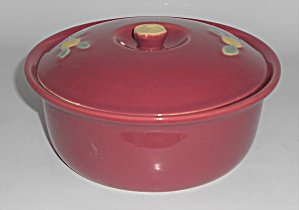 Coors Pottery Rosebud Red 2 Pt Straight Casserole Rober