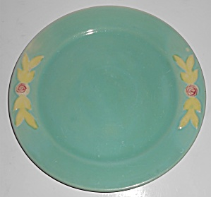 Coors Pottery Rosebud Early Green 9'' Plate Robert Schn