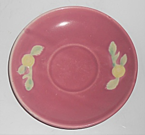 Coors Pottery Rosebud Early Red Saucer Robert Schneider