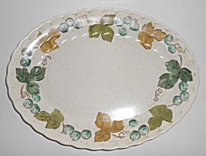 Metlox Pottery Poppy Trail Vineyard Large Platter