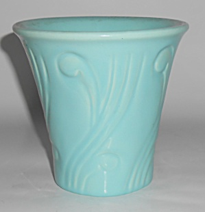 Pacific Pottery 5in Turq Art Deco Flower Pot