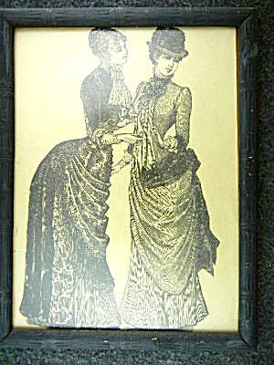 Goody's Fashion Illustration Black And White Framed