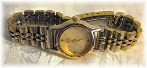 Wristwatch Sieko Gold Face Ladies Wristwatch