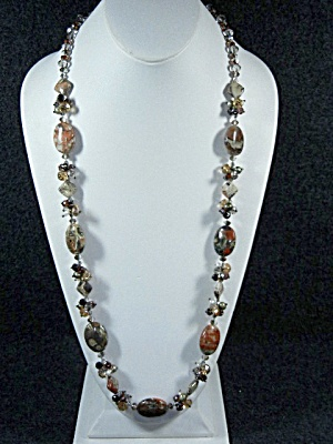 Necklace, Jasper And Crystal