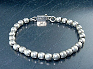 Taxco Mexico Sterling Silver Beads Bracelet