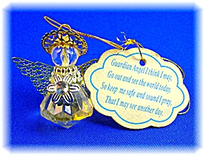 Guardian Angel Gold Wings And Halo Plastic Angel