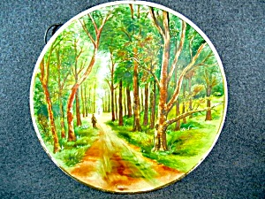 Ceramic Spring In The Woods Plate Artist Signed J Coop
