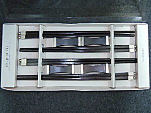 4 Pair Fancy Chop Stick In Box With Rests