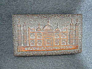 Wooden Box Taj Mahal Hand Carved Hinged Lid
