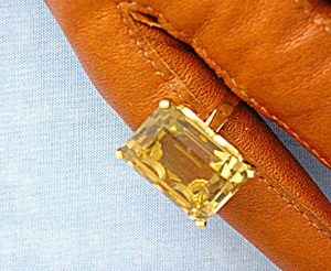Ring 14k Gold Basket Set Golden Citrine