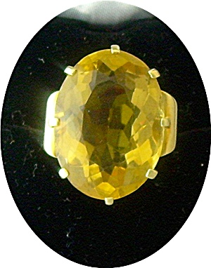 Ring 14k Yellow Gold Golden Citrine