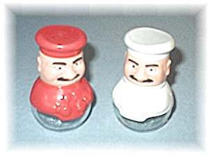 Red & White Salt & Pepper Shakers