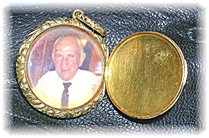 Gold Picture European Picture Locket Ornate Bale