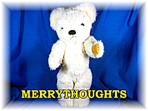 Cream Colored Merrythoughts Teddy Bear 16 Inches Tall