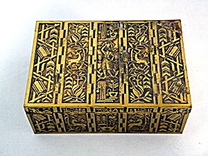 Brass Box Hinged Wood Bottom Israel
