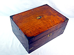 Walnut Hinged Writing Box English