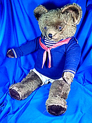 Vintage Circa 1940s Mohair Teddy Bear July Jointed