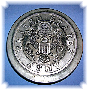 Us Army Metalware Trinket Box.