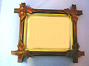 Picture Frame Wood With Oak Leaf Corners