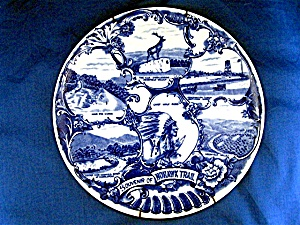 Olde English Staffordshire Ware, Souvenir Of Mohawk Tra