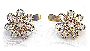 18k Gold Asian Uncut Diamond Leverback Earrings