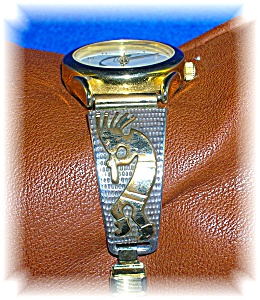 Navajo Sterling Silver 12k Gf Ladies Wrist Watch