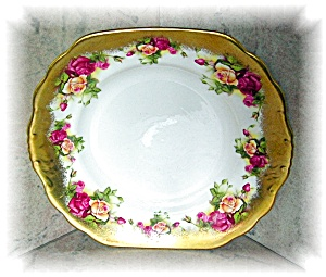 English Bone China Golden Rose Royal Chelsea Plate