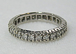 Ring 14k White Gold Diamond Wedding Eternity