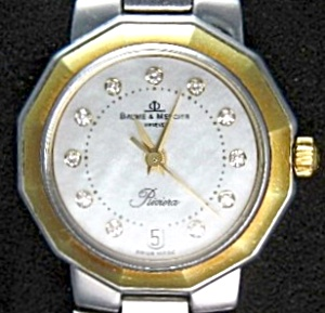 Baume Mercier Diamonds On Face Ladies Riviera Watch