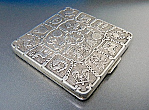 Compact Sterling Silver Zodiac Compact D.k Depose