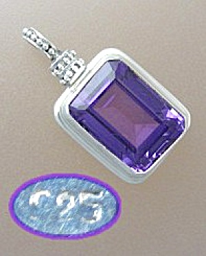 Sterling Silver 12ct Amethyst Pendant