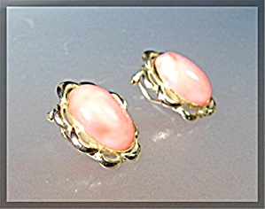 Earrings 14k Gold Coral French Clip Earrings