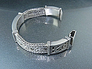 Indonesia Sterling Silver Ornate Bracelet 78 Grams