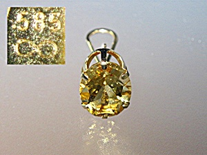 Earrings 14k Gold French Back 10ct Citrine