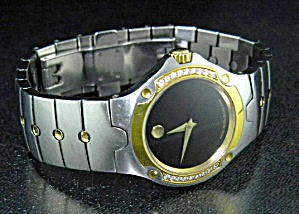 Movado Musuem Diamond Wristwatch Black Face