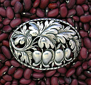 Cini Gugliemo Sterling Silver Flowers And Leaves Brooch