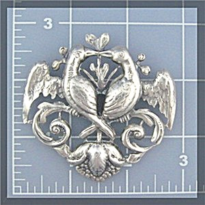Cini Sterling Silver Love Birds Brooch Usa