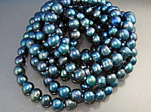 Freshwater Grey Pearls 76 Inches