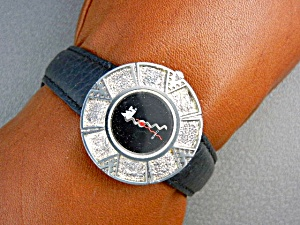 Surrisi Mountain Time Silver Plate Wristwatch