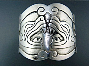 Taxco Mexico Sterling Silver Bracelet Signed Lc 105