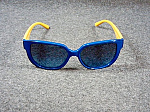 Tory Burch Ladies Blue And Gold Sunglasses