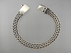 Mexico Ip-25 Sterling Silver Woven Bracelet