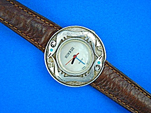 Surrisi Sterling Silver Santa Fe Serpent Wrist Watch