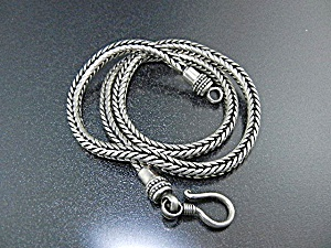 Sterling Silver Wheat Chain Hook Clasp Indonesia