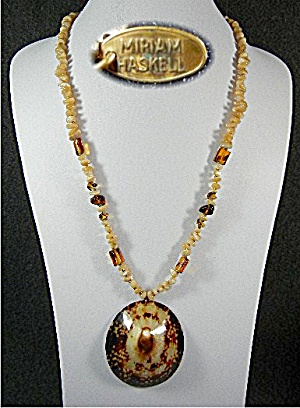 Miriam Haskell Shell Mother Of Pearl Necklace