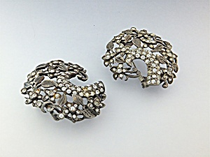 Dress Clips Sterling Silver Paste Eisenberg Original