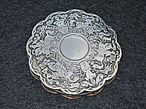 Compact Silver Knights On Horseback Mirror Ffaice