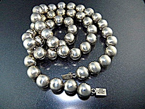 Taxco Sterling Silver Beads Necklace Th-13