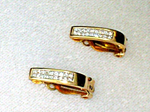 Earrings Diamond 14k Yellow Gold Clip